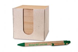 »Design-RC®« Öko-Cube Notizzettel-Box 550 Blatt grau/braun