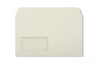 »Graspapier« FIXCOLL Briefumschlag 125 x 225 mm (mit Pergamin-Fenster)