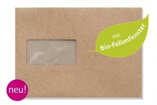 »Design-RC®« 162 229 mm DIN C5 braun Briefumschlag (mit Bio-Folienfenster)