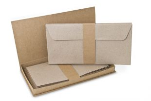 Briefbox »Fenix« DIN lang grau/braun
