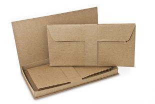 Briefbox »Fenix« DIN lang braun/grau