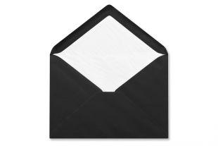 Briefumschlag C5 schwarz, nassklebend