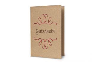Klappkarten »Gutschein« DIN A6 inkl. Hüllen