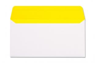 Hülle DIN lang, ohne Fenster »Neon-Innendruck gelb«