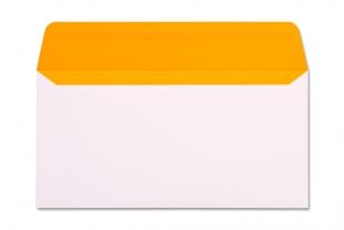 Hülle DIN lang, ohne Fenster »Neon-Innendruck orange«