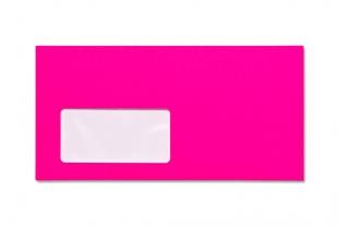 Hülle DIN lang, mit Fenster »Neon-Außendruck pink«