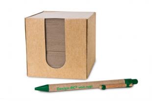 »Design-RC®« Öko-Cube Notizzettel-Box 550 Blatt braun/grau