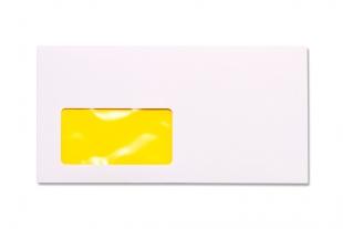 Hülle DIN lang, mit Fenster »Neon-Innendruck gelb«