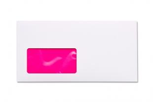 Hülle DIN lang, mit Fenster »Neon-Innendruck pink«