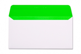 Hülle DIN lang, ohne Fenster »Neon-Innendruck grün«