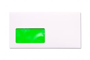 Hülle DIN lang, mit Fenster »Neon-Innendruck grün«