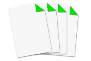 Briefbogen DIN A4 »einseitig bedruckt neongrün«