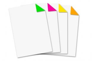 Briefbogen DIN A4 »einseitig bedruckt neon sortiert«