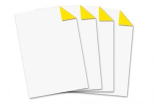 Briefbogen DIN A4 »einseitig bedruckt neongelb«