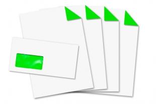 Start-Set DIN lang, mit Fenster + DIN A4 »Neongrün«