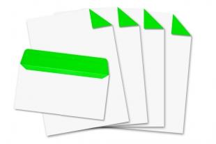 Start-Set DIN lang, ohne Fenster + DIN A4 »Neongrün«