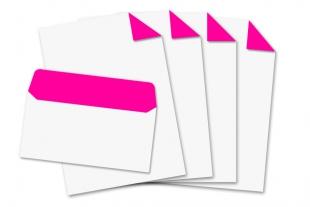 Start-Set DIN lang, ohne Fenster + DIN A4 »Neonpink«