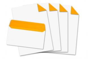Start-Set DIN lang, ohne Fenster + DIN A4 »Neonorange«