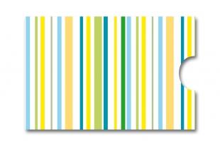»Edelkuvert®« RFID-Schutzhülle gestreift-blau-grün-gelb