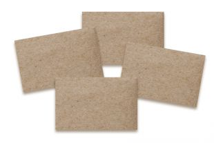 Karten 55 x 98 mm »Miniformat« »Design-RC®« braun/braun