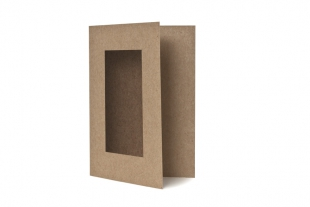 Passepartout-Klappkarten DIN A6 »Design-RC®« braun/braun