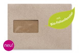 »Design-RC®« 162 x 229 mm DIN C5 grau Briefumschlag (mit Bio-Folienfenster)