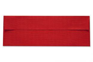 Hülle 115 x 325 mm, rote Leinenstruktur