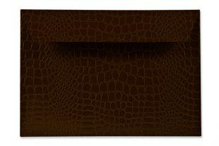 Hülle DIN C5, geprägte Krokodilleder-Optik braun