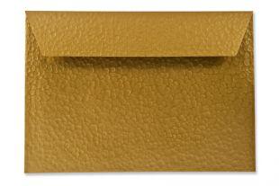 Hülle DIN C5, Hammerschlagstruktur metallic groß, goldgelb