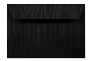 Hülle DIN C5, schimmernde Damastoptik schwarz